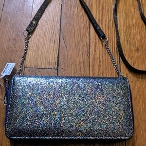 NWT Oil Slick Rainbow Colored Wallet Crossbody